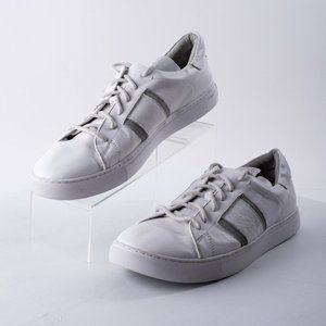 Robert Graham Mens Delgado White Shoes Sneakers